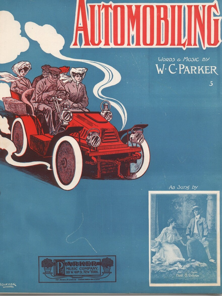"""By 1905, """"Automobiling"""" was even the name of a popular song — with sheet music."""