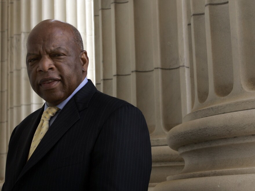 Rep, John Lewis, who spoke at the 1963 March on Washington, said it was a moral obligation to stand up for his beliefs.