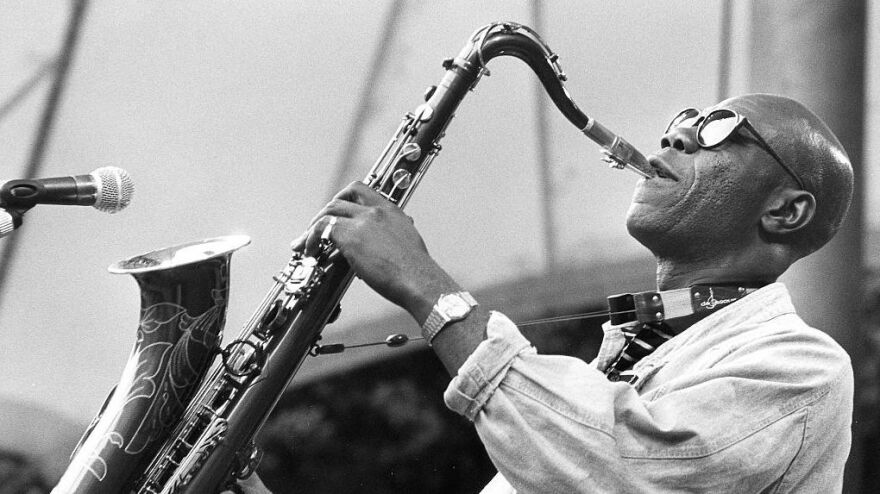 An undated portrait of Afro-funk saxophonist Manu Dibango. He died Tuesday in Paris after contracting the coronavirus.
