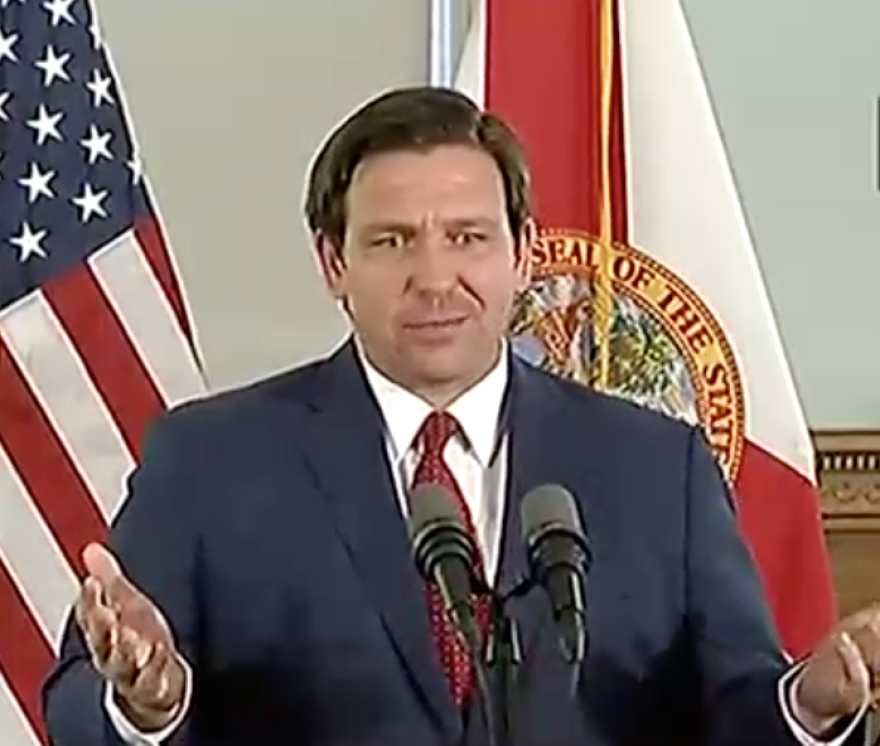 Gov. Ron DeSantis announced Saturday that Florida K-12 public school students would not return to the classroom this school year.
