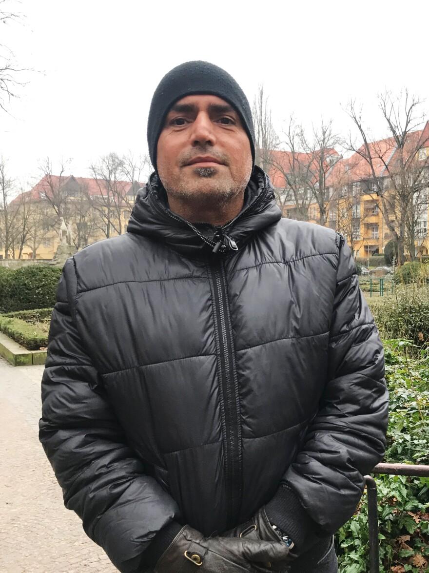 Pejram Tahmasbi, a small business owner in Berlin.