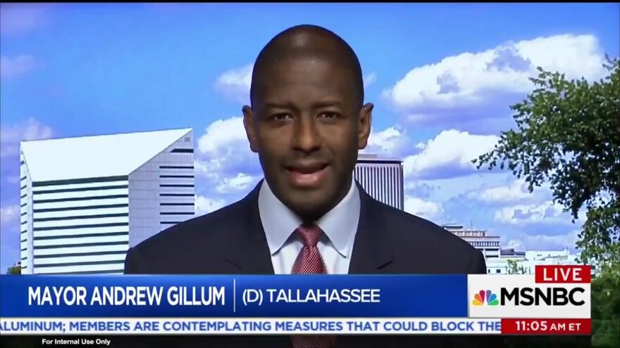 "Andrew Gillum talks about NRA lawsuit on MSNBC's ""Morning Joy"" 3/10/18."