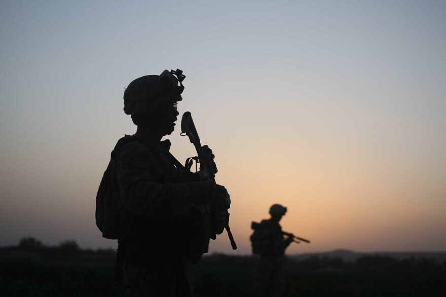 U.S. Marines step off in the early morning during an operation to push out Taliban fighters on July 18, 2009 in Herati, Afghanistan. (Joe Raedle/Getty Images)