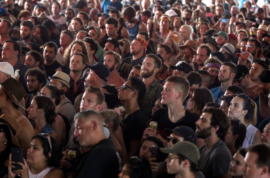 A crowd from the ACL Music Festival in 2018.