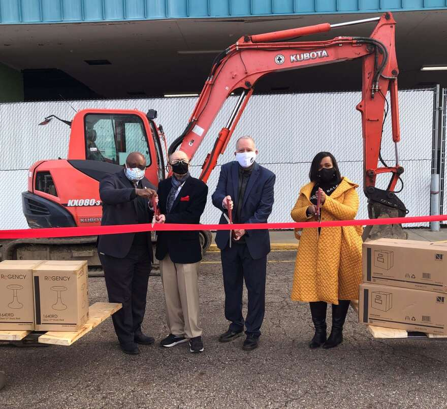 Regency Inc. expansion project ribbon cutting
