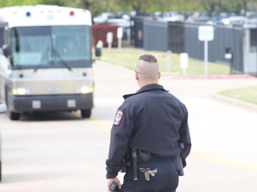 Immigration and Customs Enforcement raided a cellphone repair company in Texas on Wednesday. Buses left the site a few hours after the raid began, presumably with some of the 280 workers accused of being in the country without proper documentation.