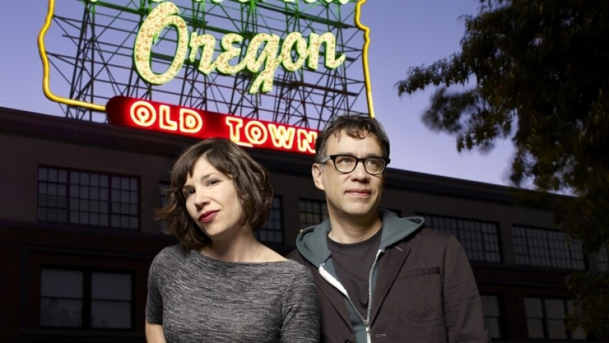 Carrie Brownstein and Fred Armisen film their sketch-comedy show <em>Portlandia</em> in the summer, when Armisen is on hiatus from <em>Saturday Night Live</em>. During the rest of the year, they communicate through constant text messages, says Armisen.