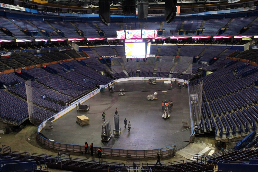 The interior of the Scottrade Center on Jan. 2, 2017.