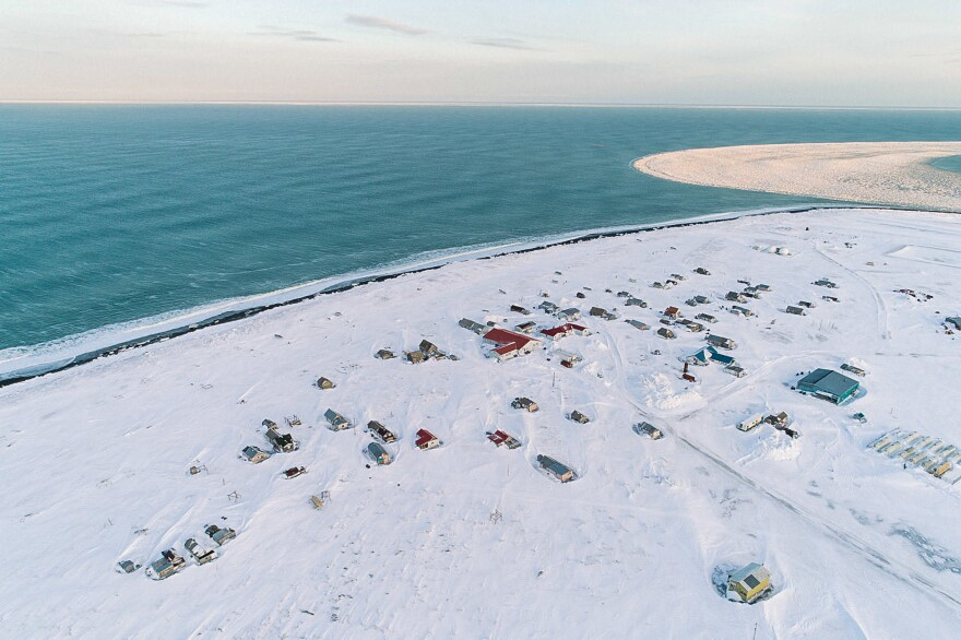 Gambell, Alaska, is on St. Lawrence Island in the Bering Sea. On clear days, Siberia is visible in the distance. People have lived on the island for thousands of years and developed subsistence hunting strategies and traditions that are still being passed down.