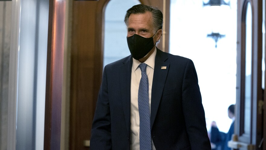 """""""President Trump has disrespected the American voters, has dishonored the election system, and has disgraced the office of the presidency,"""" Utah Sen. Mitt Romney told reporters Wednesday."""