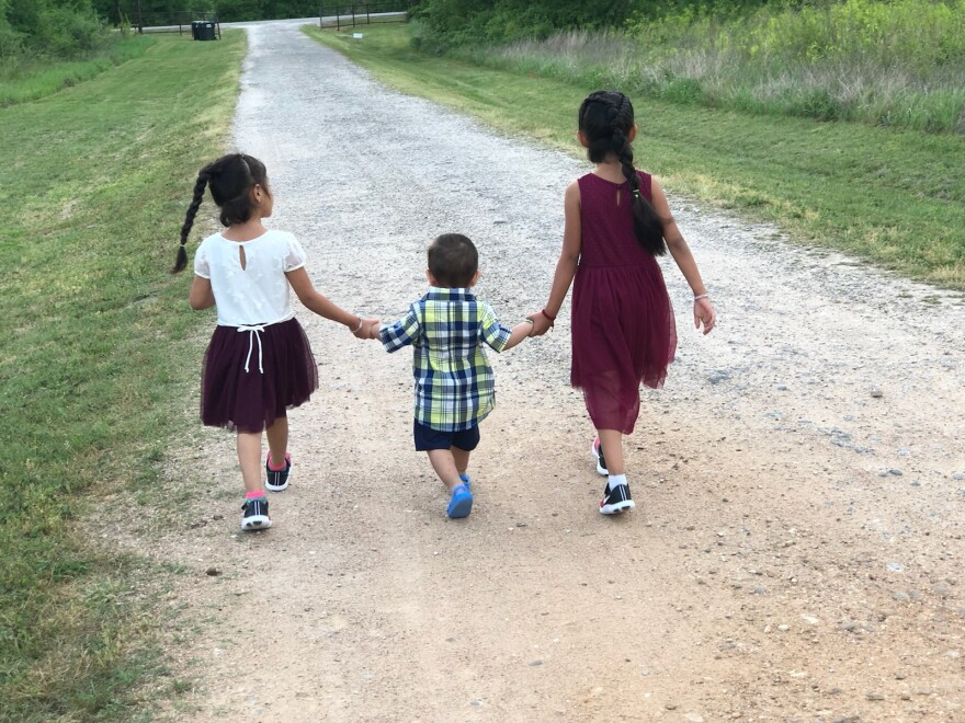 Angel and Rosy have three kids, ages 8, 5 and 2. They're all American citizens. Angel was deported in 2019 and returned to the U.S. with the help of his employer and a coyote.