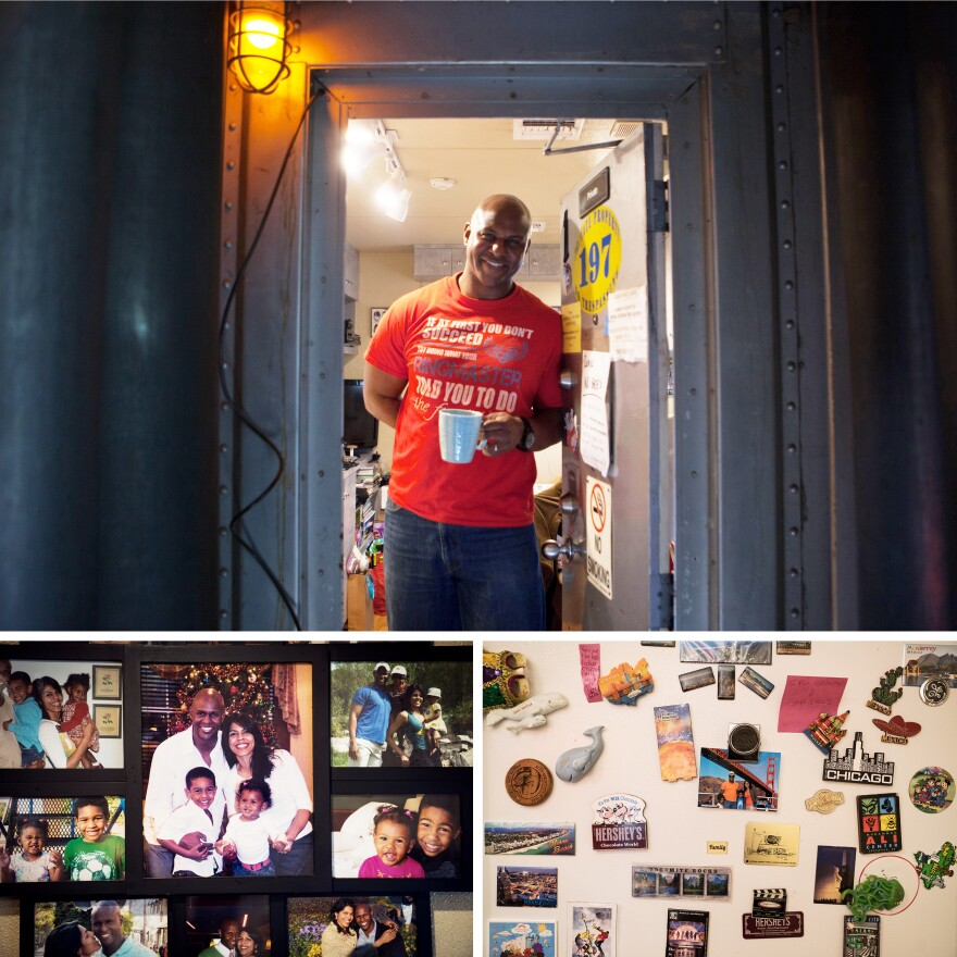 Iverson and his family of four have lived year-round in a three-room compartment on the mile-long Ringling circus train. As they travel from city to city, they collect magnets from the different places they visit.
