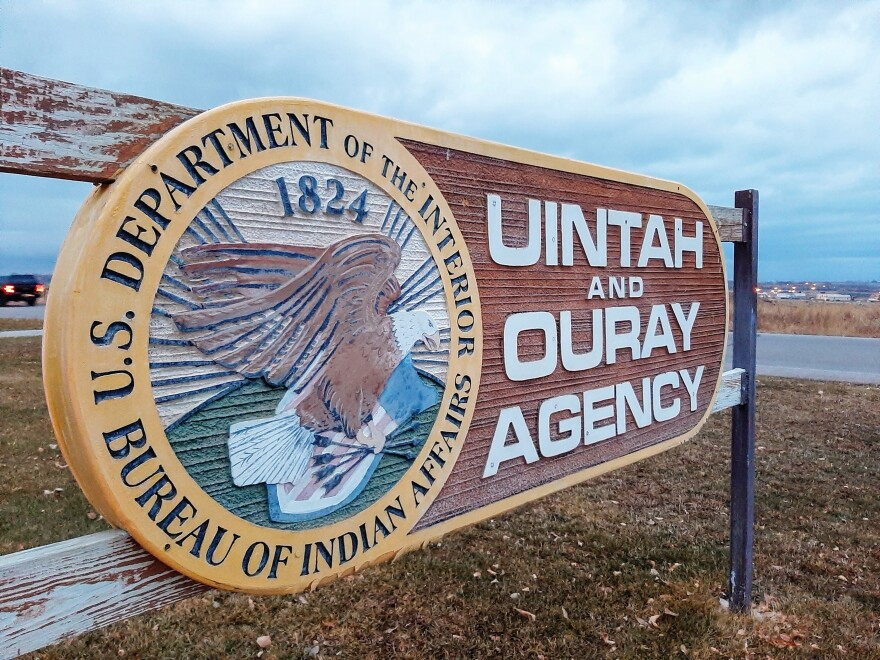 Uintah and Ouray Agency sign.