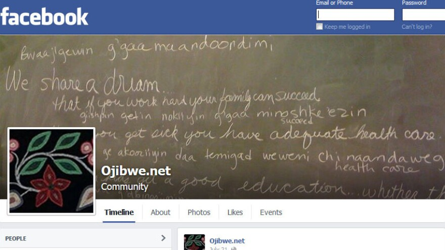 Ojibwe.net contributor Margaret Noodin says having a presence on websites like Facebook gives the group a chance to reach younger generations. The group seeks to preserve Anishinaabemowin, an endangered Native American language.