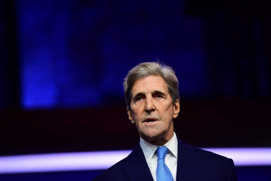 Special Presidential Envoy for Climate John Kerry speaks after being introduced by President-elect Joe Biden as he introduces key foreign policy and national security nominees and appointments.