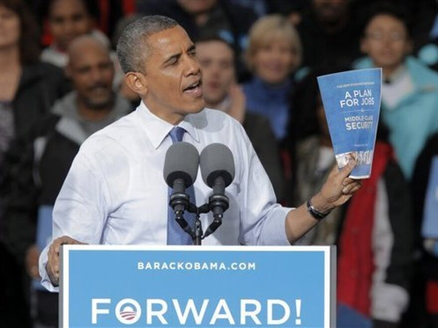 President Obama at a campaign rally at City Park in Denver  Wednesday.