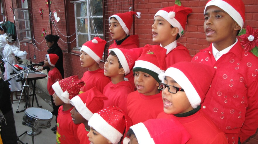 Carolers from St. Columba's School in New Delhi stage their annual Christmas program, where the student body is Catholic, Sikh and Hindu.