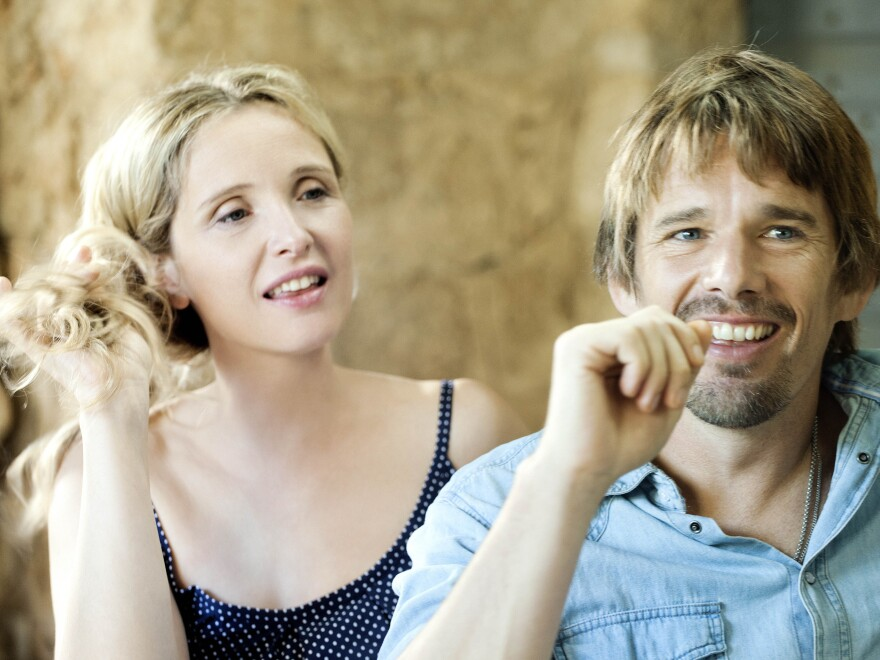 Linklater's three films in the series are separated by nine-year increments that follow Celine (Delpy) and Jesse (Hawke) as they meet and fall in love and pair up. In <em>Before Midnight</em>, the two are the parents of twins.