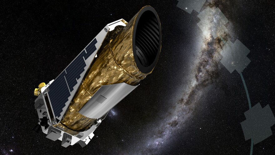 The Kepler space telescope, seen here in an artist's concept image, has been restored to normal status after surprising engineers by going into emergency mode last week.