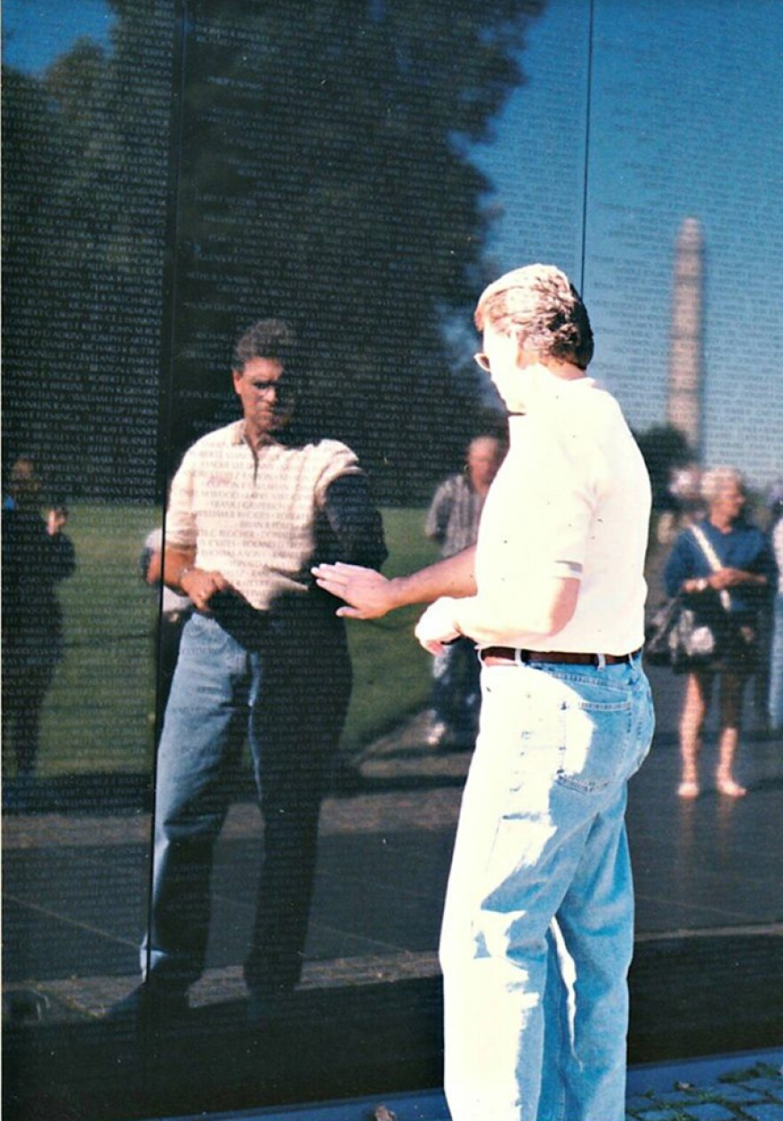 McGough on a visit to the Vietnam Veterans Memorial, in Washington, D.C., when he was in his late 40s. McGough died in 2014 of liver cancer that doctors traced to a hepatitis C infection he'd contracted from a blood transfusion during his military service in the Vietnam War.