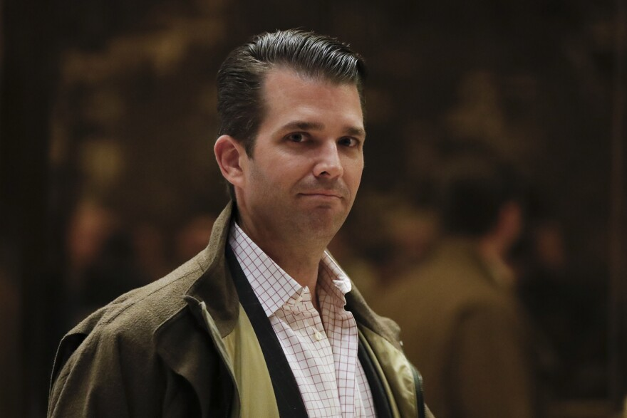 Donald Trump Jr., son of President Donald Trump, walks from the elevator at Trump Tower, Wednesday, Nov. 16, 2016, in New York. (Carolyn Kaster/AP)