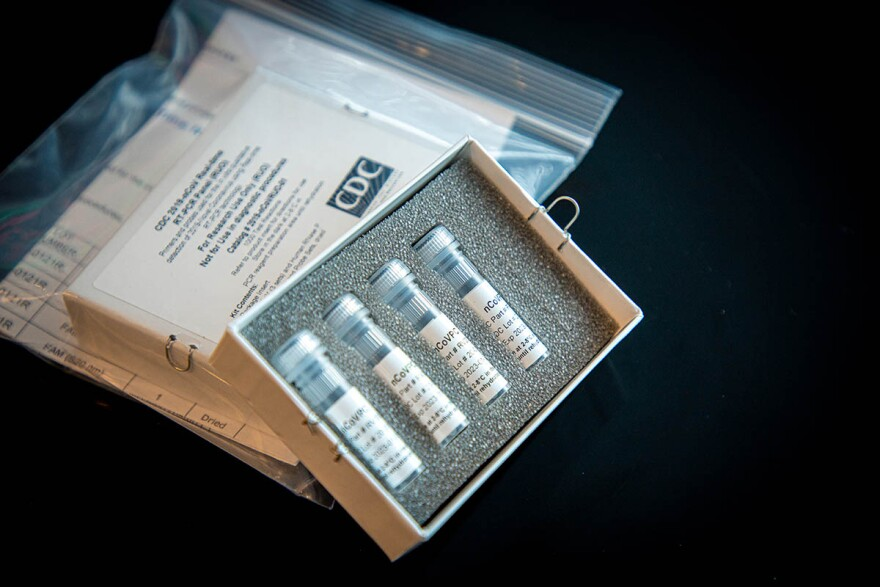 A box with four vials