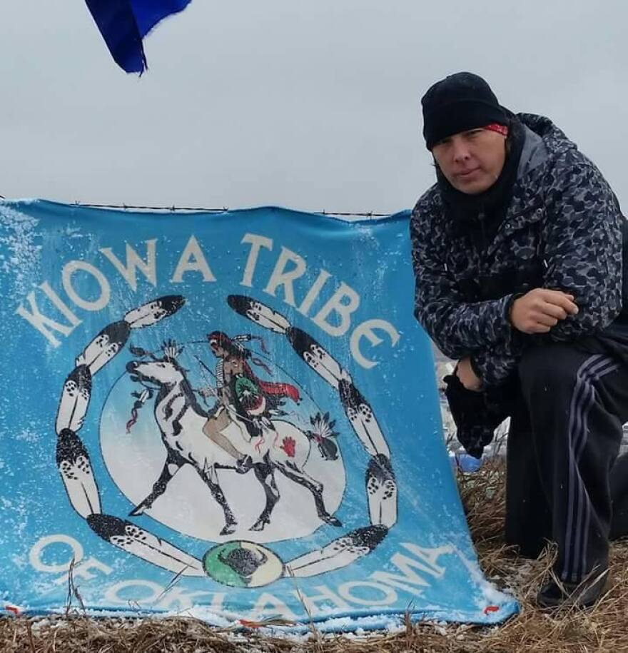 Michael Tongkeamha is currently at the Standing Rock encampment