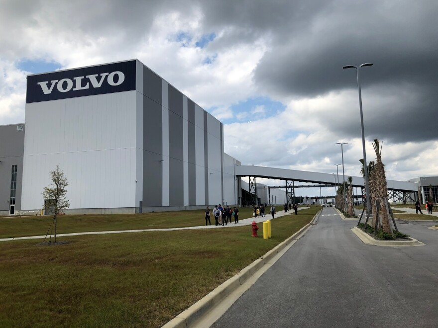 Volvo's new $1.1 billion plant in Ridgeville employs 1,500 people and is currently running at a fraction of its capacity