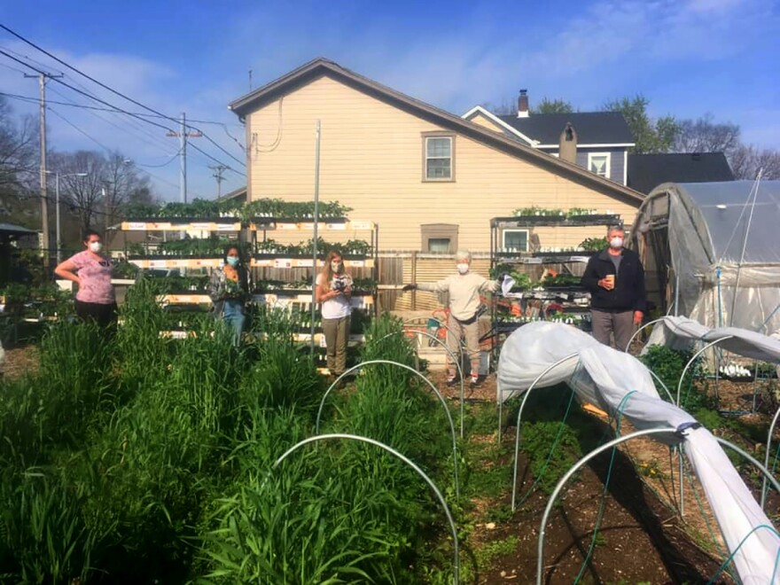 Local farmers practice organic gardening and social distancing at Dayton Urban Grown on Xenia Avenue.