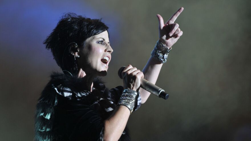 Dolores O'Riordan performs with The Cranberries in France in 2016.