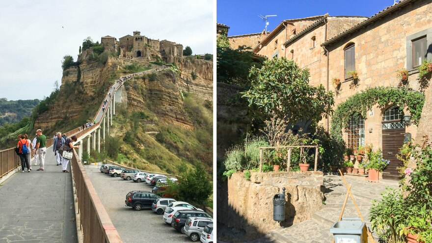 Visitors to Civita are warned to carry as little as possible because of the tough trek. Only 10 people can call the tiny town home.
