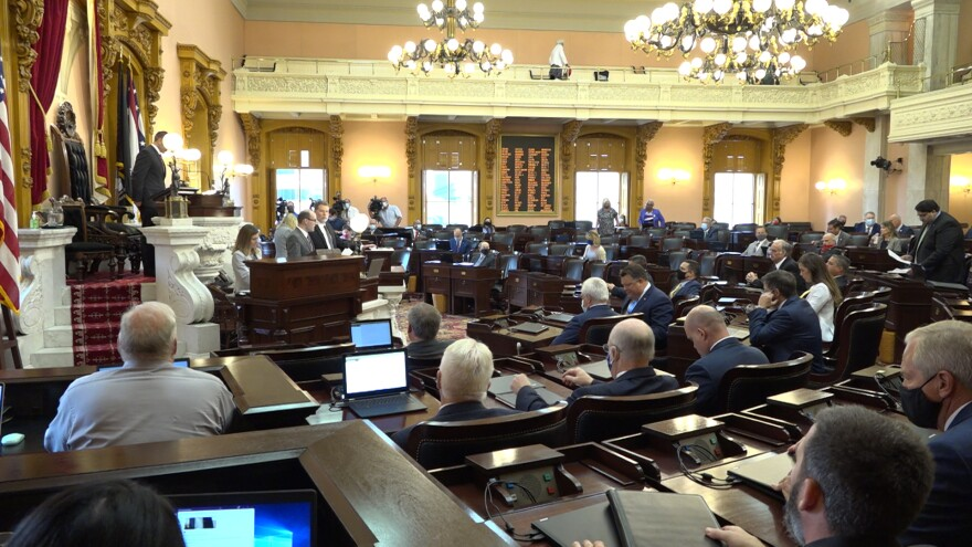 The Ohio House prepares to vote to oust Larry Householder as speaker.