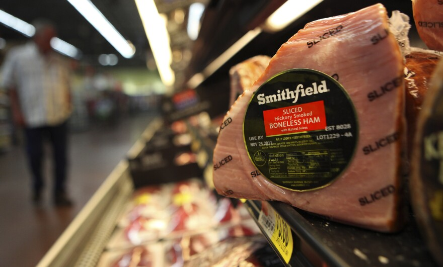 A Smithfield ham at a grocery store in Richardson, Texas, in 2011. Some senators expressed qualms Wednesday about the intentions of Shuanghui International Holdings, which is buying Smithfield Foods.