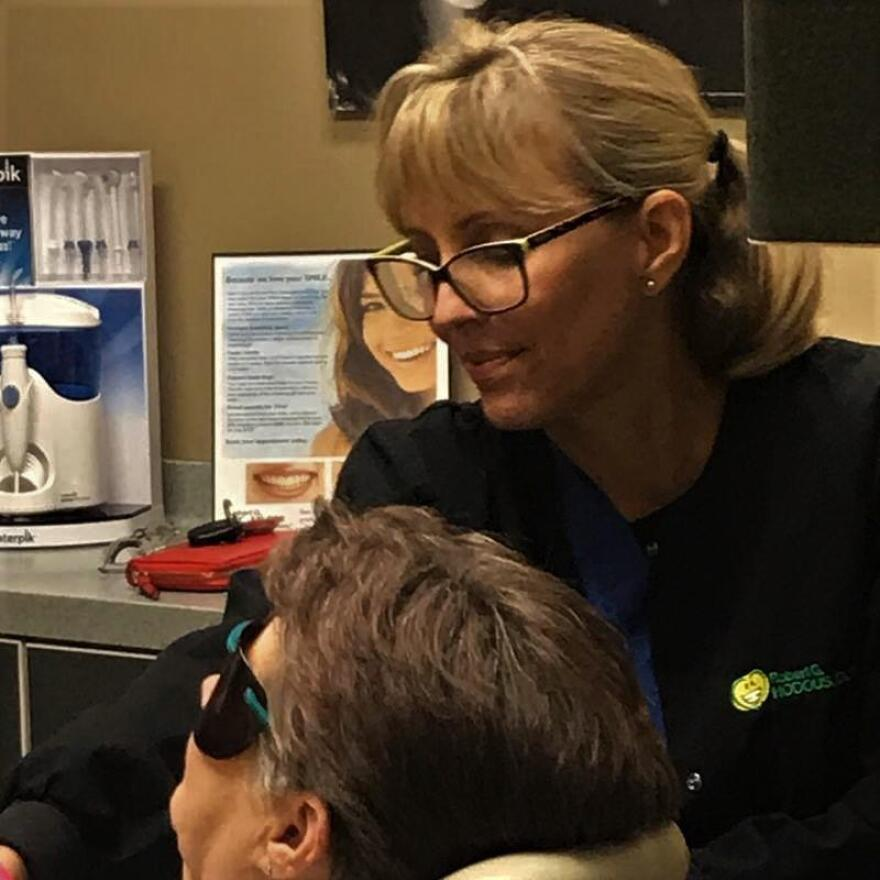 Hygienist Marlene Blair specializes in analyzing patients' oral microbiome.