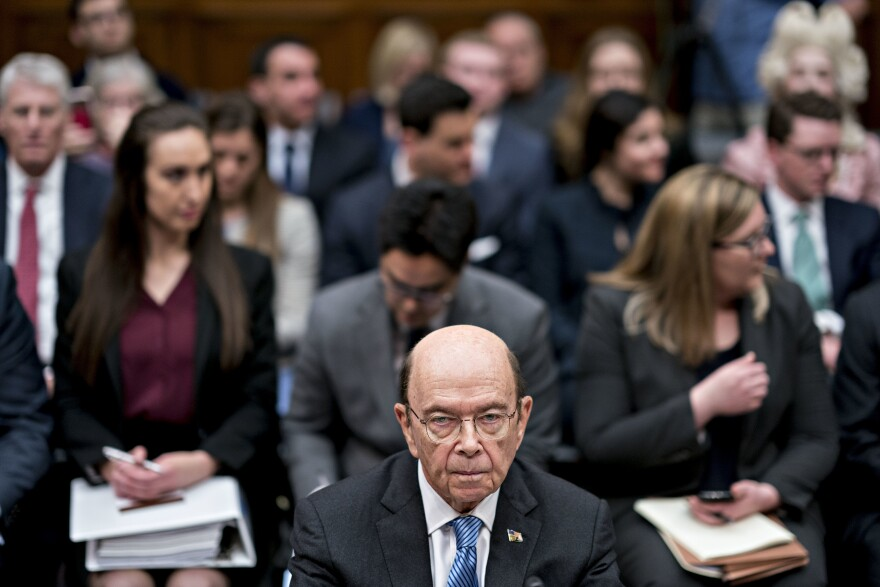 Commerce Secretary Wilbur Ross, who oversees the Census Bureau, waits for a House Oversight and Reform Committee hearing to begin in Washington, D.C., in 2019. In July, Ross directed bureau officials to speed up the 2020 census to end counting a month early, on Sept. 30.