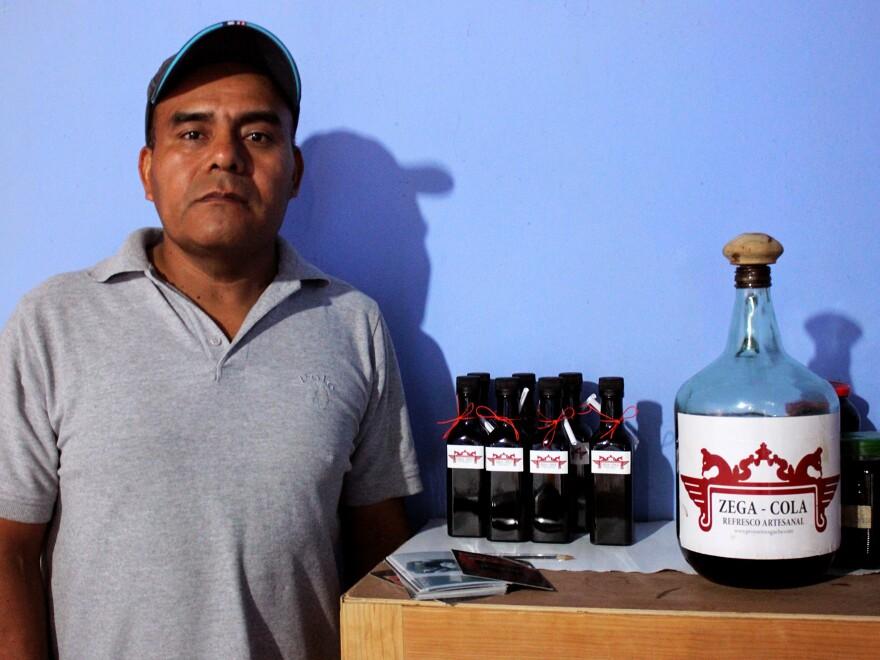 Carpenter Antonio Ambrosio Salvador makes Zega-Cola in Santa Ana Zegache, a small village near Oaxaca, Mexico. Zega-Cola was conceived as a locally made alternative to Coca-Cola, which is ubiquitous in Mexico.