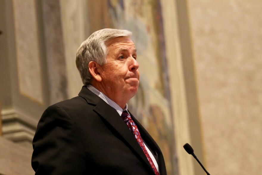 Lt. Gov. Mike Parson presides over the Missouri Senate last Wednesday. Parson is expected to take a sizable role in helping Greitens pass his legislative agenda.