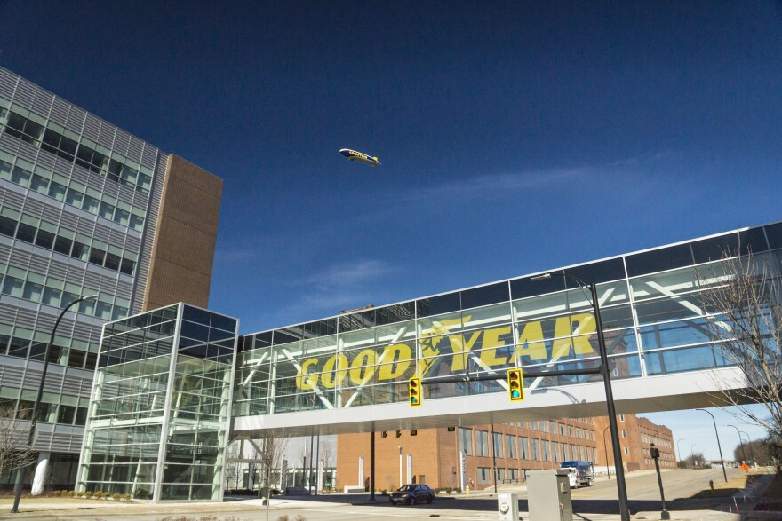 Picture of Goodyear's headquarters in Akron, OH.