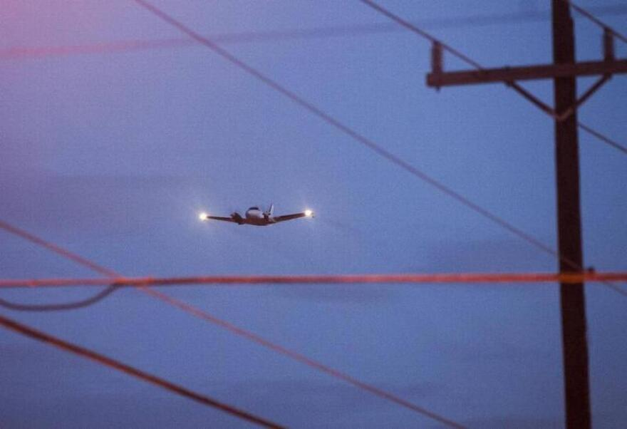 A contractor for Miami-Dade County conducted mosquito control aerial spraying over Wynwood and the surrounding areas on Aug. 4, 2016.
