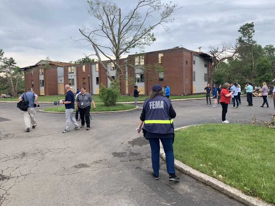 FEMA inspectors conduct damage assessments in Trotwood, where several large apartment complexes were destroyed in the tornadoes.