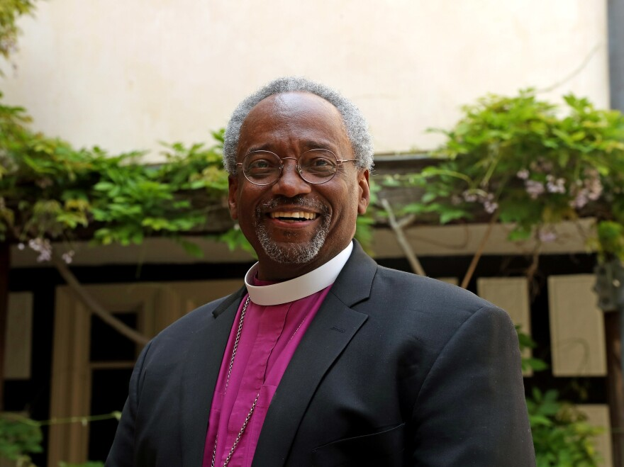 Bishop Michael Curry gave a sermon at the 2018 royal wedding of Prince Harry and Meghan Markle, at St. George's Chapel, in Windsor, England.