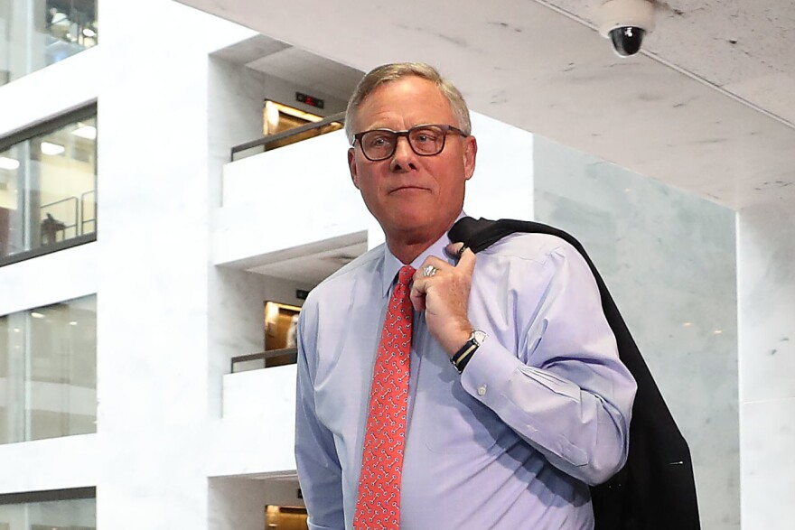 Sen. Richard Burr, R-N.C., pictured here in 2019, warned a small group of constituents on Feb. 27 about the impact of the coronavirus on the U.S., according to a secret recording obtained by NPR.