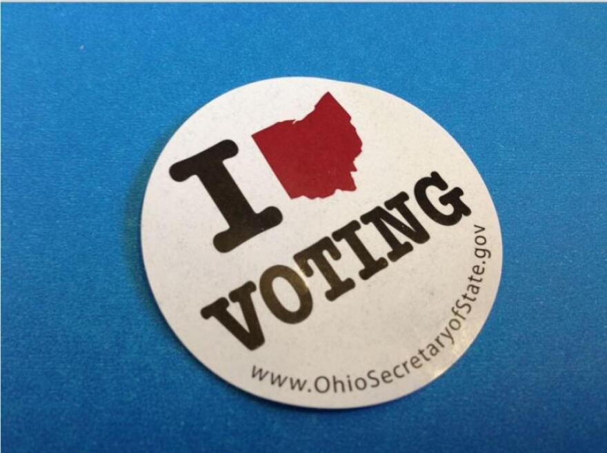 Ohio voting sticker