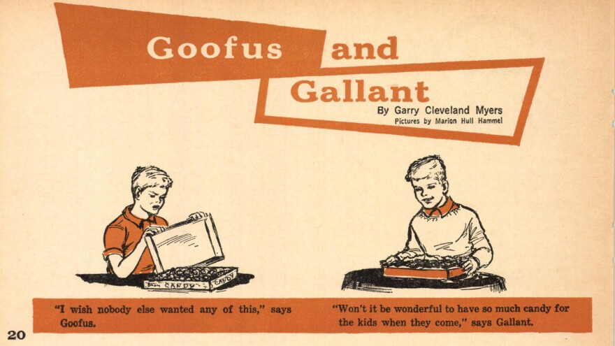 The Goofus and Gallant comic first appeared in <em>Highlights </em>in 1948.