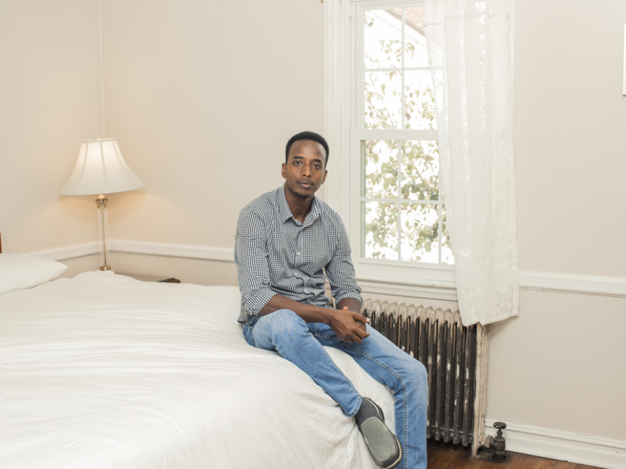"""Abdi Iftin resettled in the U.S. from Somalia in 2014, according to Oxfam. He says he is living the American dream """"because I can speak out for what I believe in, and I don't have to be afraid."""""""