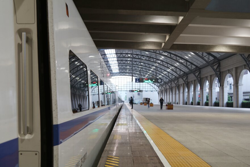 A Jingzhou-bound train left Wuhan at 6:25 a.m., carrying with it Victoria Li, who said she was jubilant to leave the city after being separated for her young child during the outbreak.