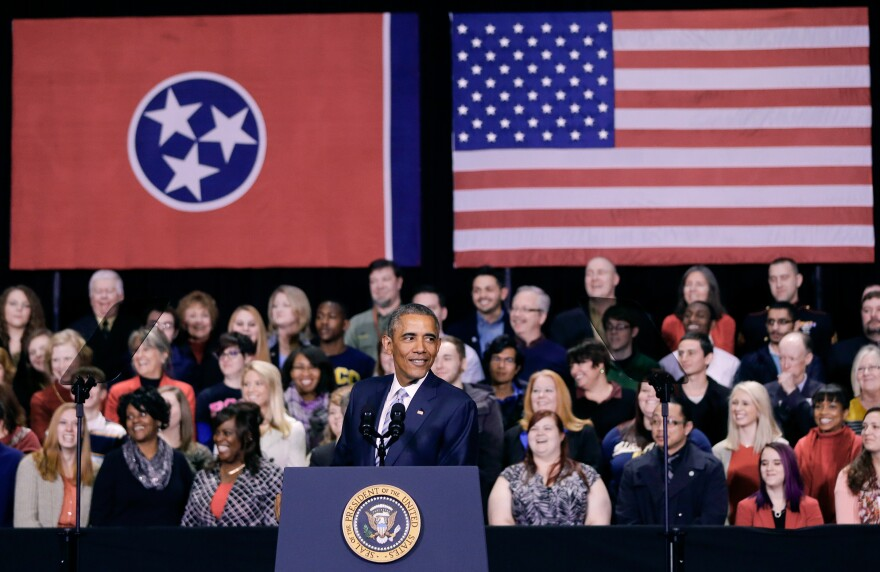 President Obama speaks at Pellissippi State Community College in Knoxville, Tenn., on Jan. 9. Obama is promoting a plan to make publicly funded community college available to all students.