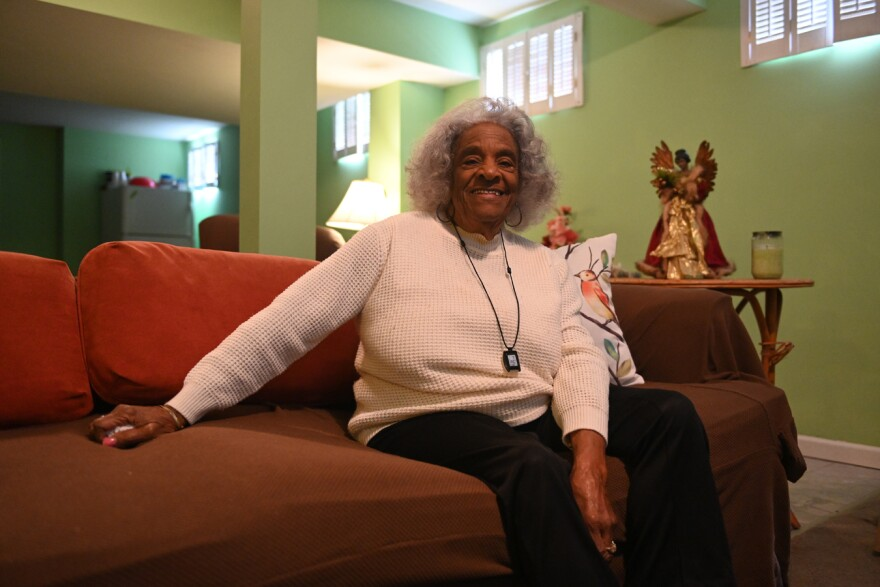 With the coronavirus threat looming, some families practice social distancing at home. Evelyn Whitfield has a basement apartment in the Walker home, a place to go to escape germs.