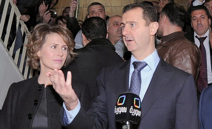 Syrian President Bashar al-Assad and his wife Asma.