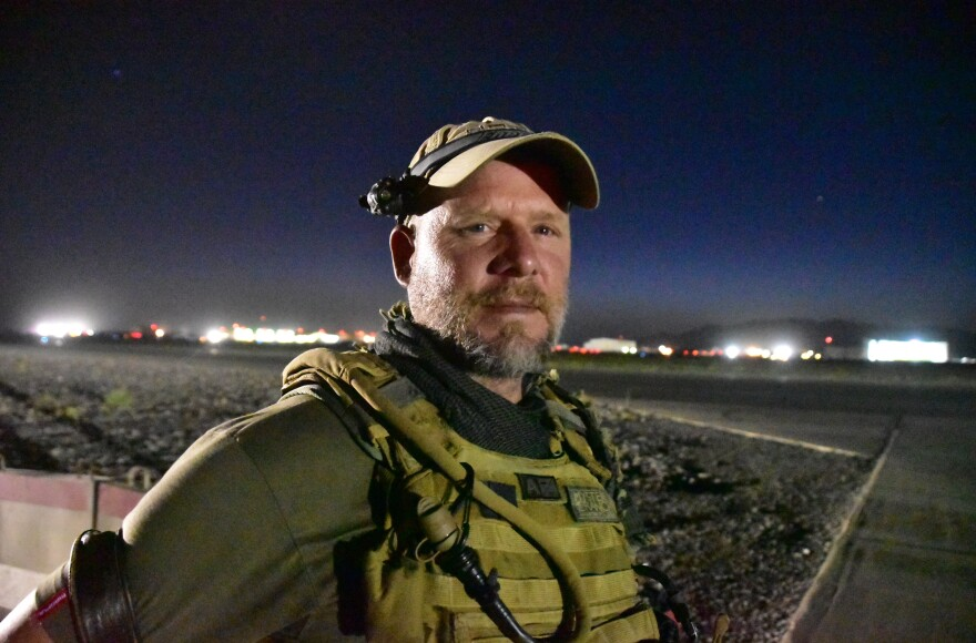 NPR photographer David Gilkey at Kandahar Airfield, Afghanistan, on May 29, 2016.